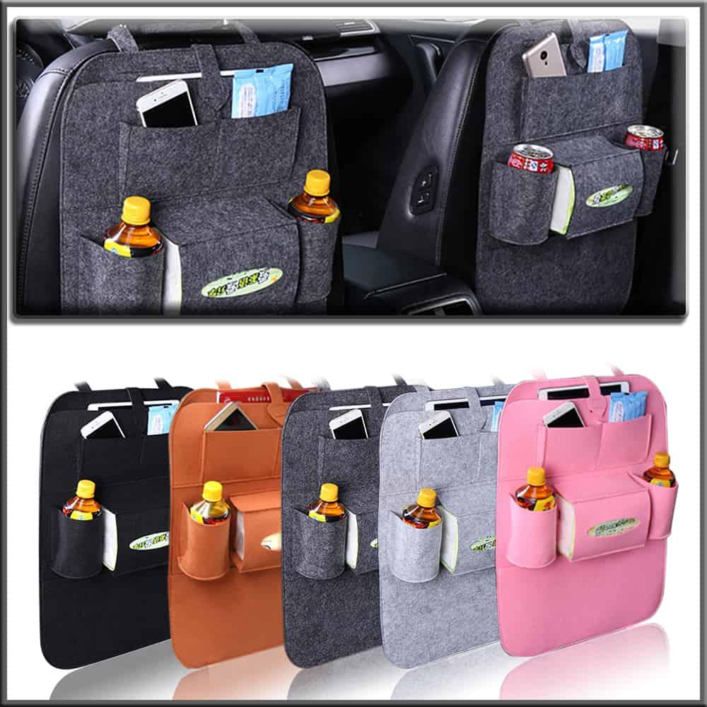 Stylish Back Seat Car Organizer Felt Wool - Flappi Duck