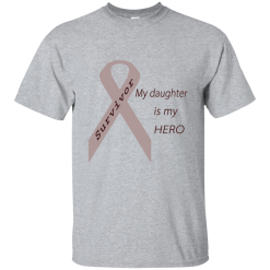 My Daughter Is My Hero Grey Ribbon Mens