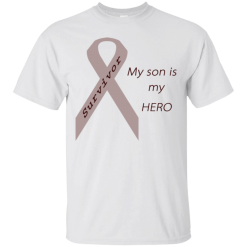 My Son Is My Hero Grey Ribbon Mens