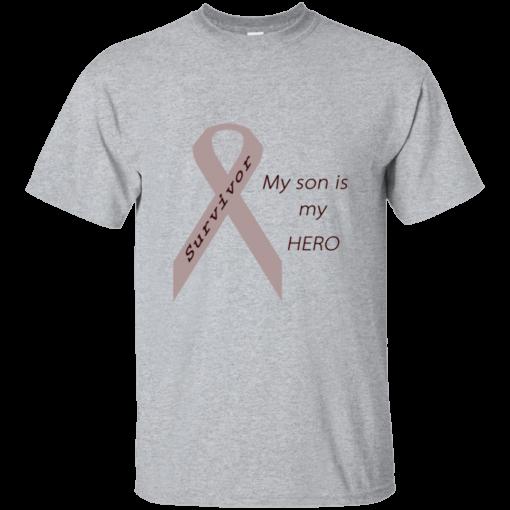 My Son Is My Hero Grey Ribbon Mens