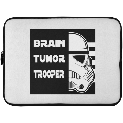 Brain Tumor Trooper Laptop Sleeve - 15 Inch