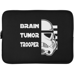 Brain Tumor Trooper Laptop Sleeve - 15 Inch