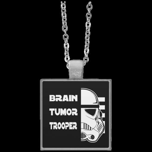 Brain Tumor Trooper Square Necklace