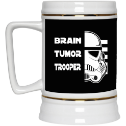 Brain Tumor Trooper Beer Stein 22oz.