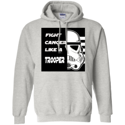 Fight Cancer Like A Trooper Hooded Sweatshirt Mens