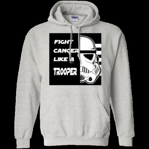 Fight Cancer Like A Trooper Hooded Sweatshirt Mens