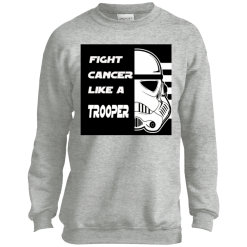Fight Cancer Like A Trooper T-Shirt Kids Sweatshirt