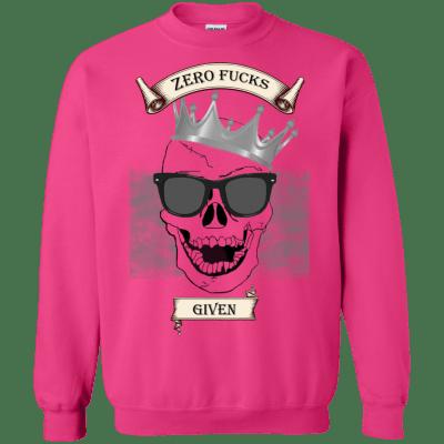 Unisex Skull Zero Fucks Given Sweatshirt