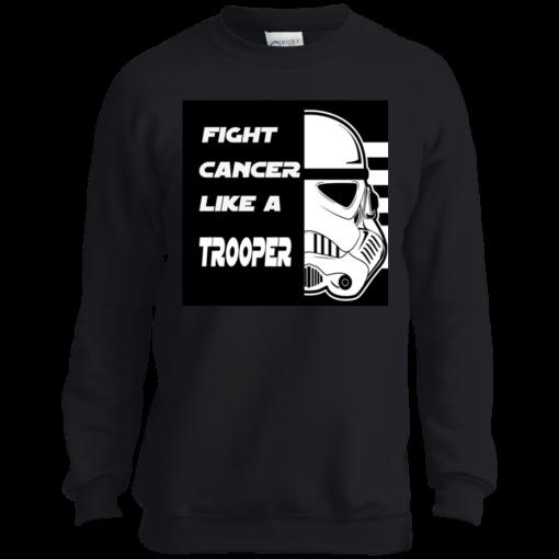 Fight Cancer Like A Trooper T-Shirt Kids Sweatshirt