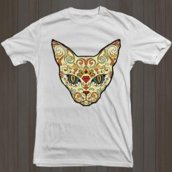 Unisex Cat Sugar Skull T-Shirt