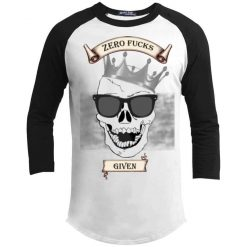 Unisex Zero Fucks Given Laughing Skull Baseball Jersey