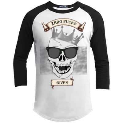 Unisex Zero Fucks Given Laughing Skull Baseball Jersey