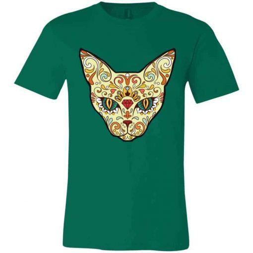 Unisex Cat Sugar Skull T-Shirt